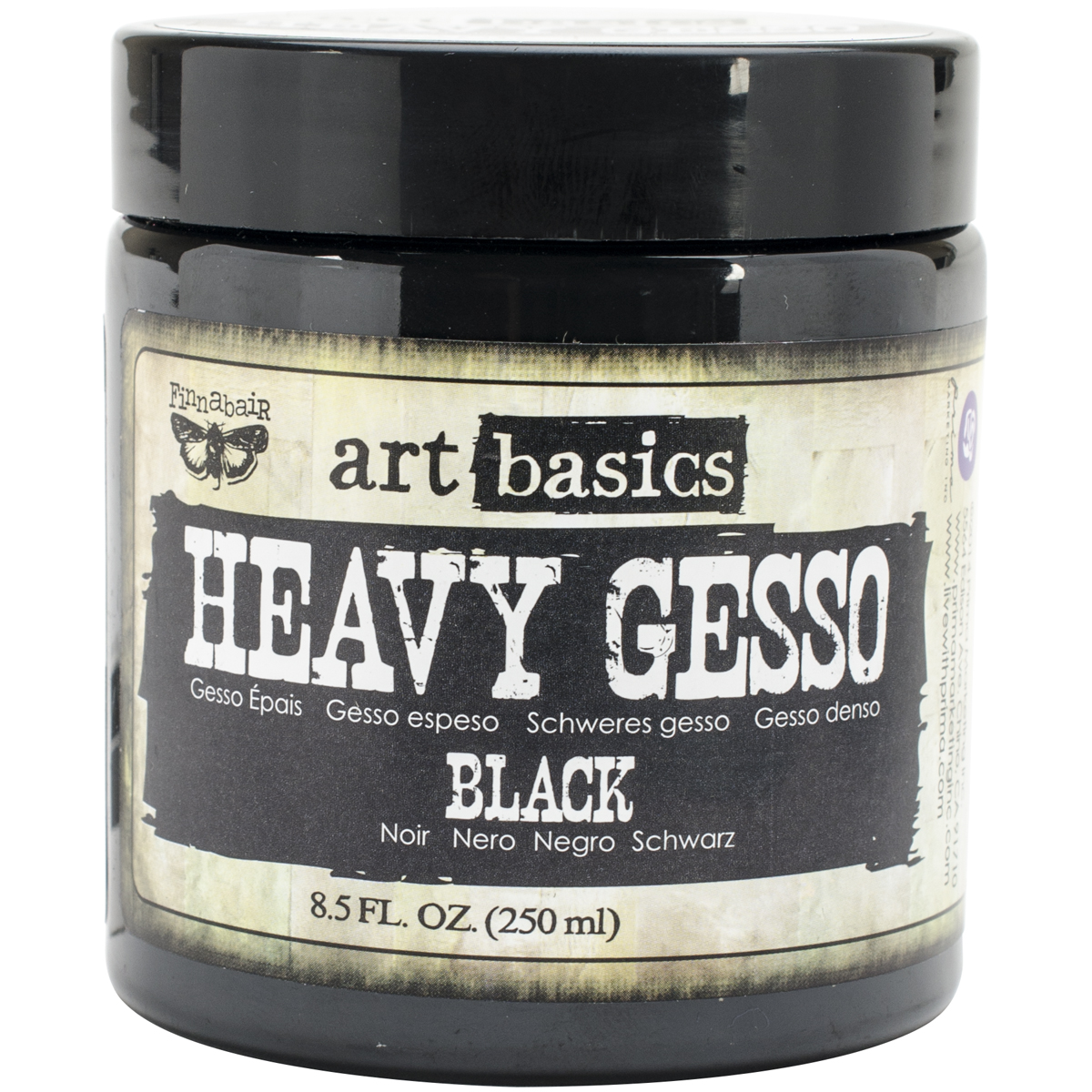 Finnabair Art Basics Heavy Gesso 8.5oz-Black
