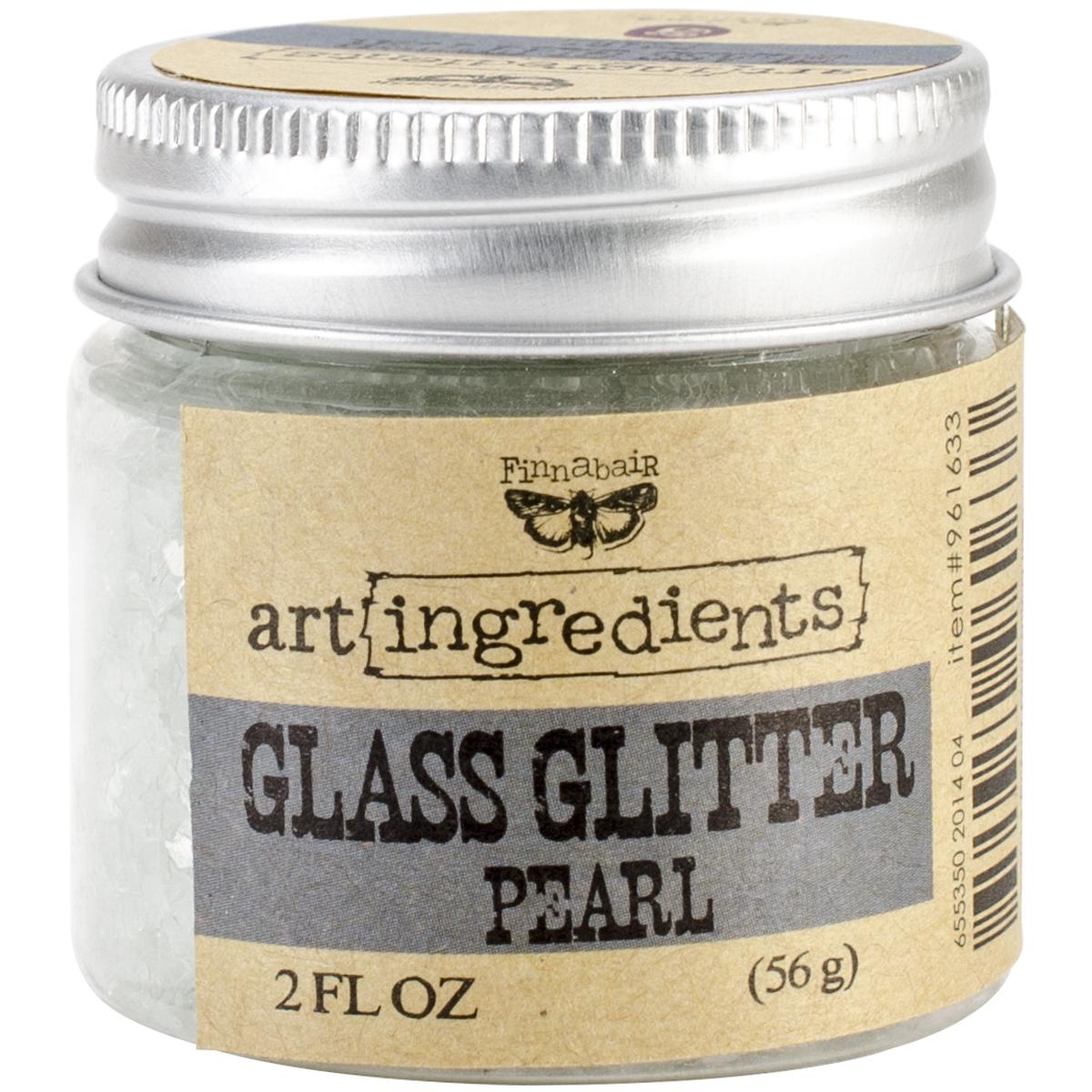 Finnabair Art Ingredients Glass Glitter 2oz-Pearl