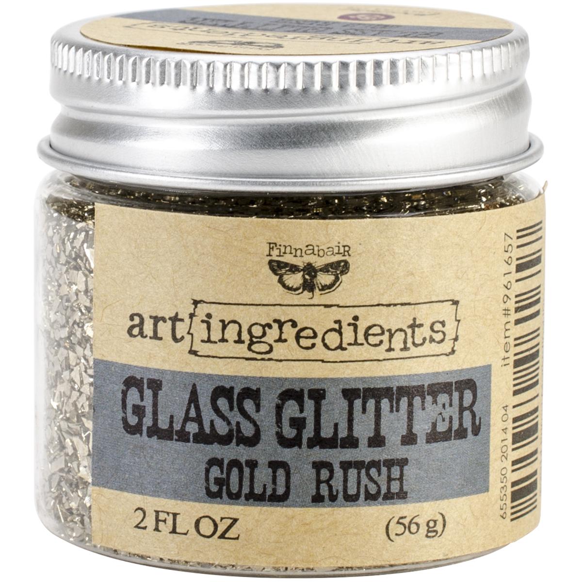 Finnabair Art Ingredients Glass Glitter 2oz-Gold Rush