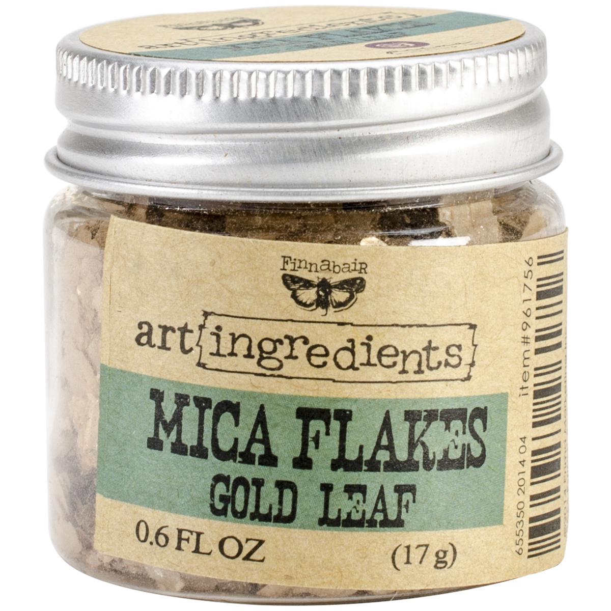 Finnabair Art Ingredients Mica Flakes 1oz-Gold Leaf