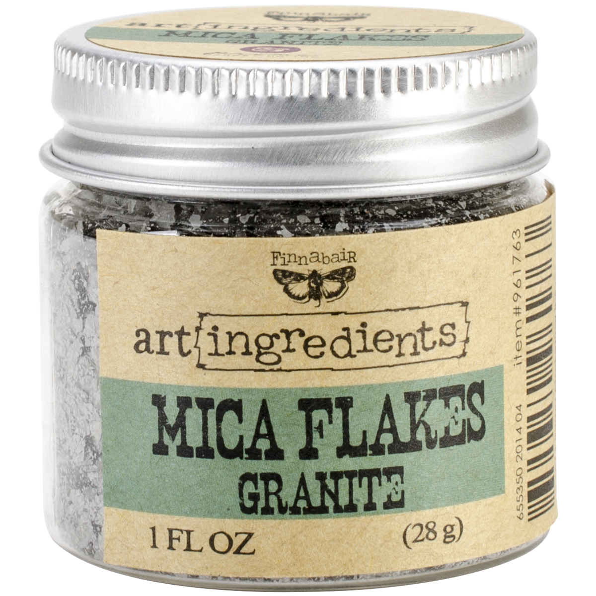 Finnabair Art Ingredients Mica Flakes 1oz-Granite
