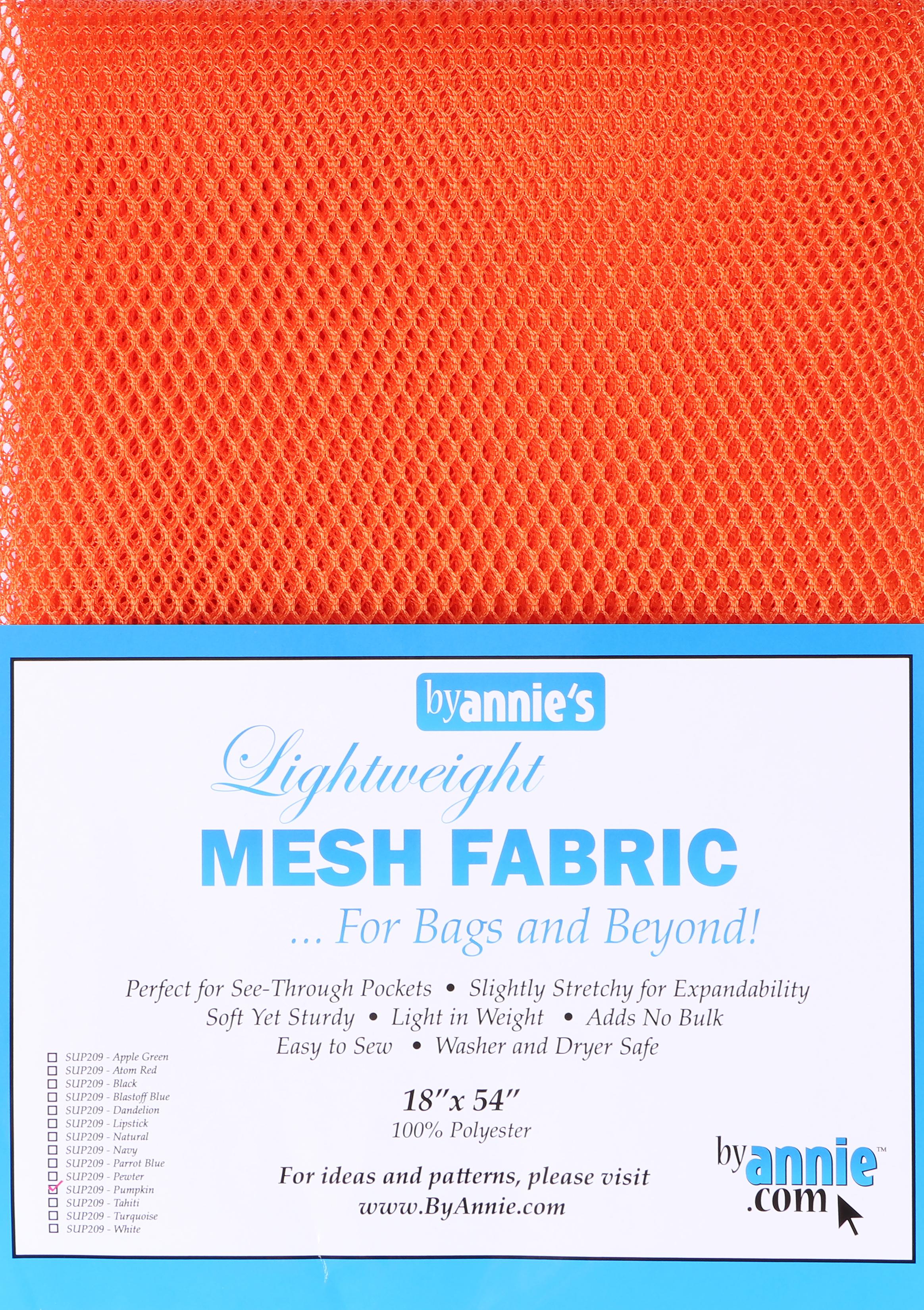 ByAnnie's Lightweight Mesh Fabric 18X54 100% Polyester-Pumpkin
