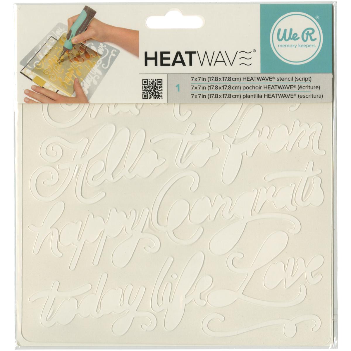 Heatwave Script Stencil