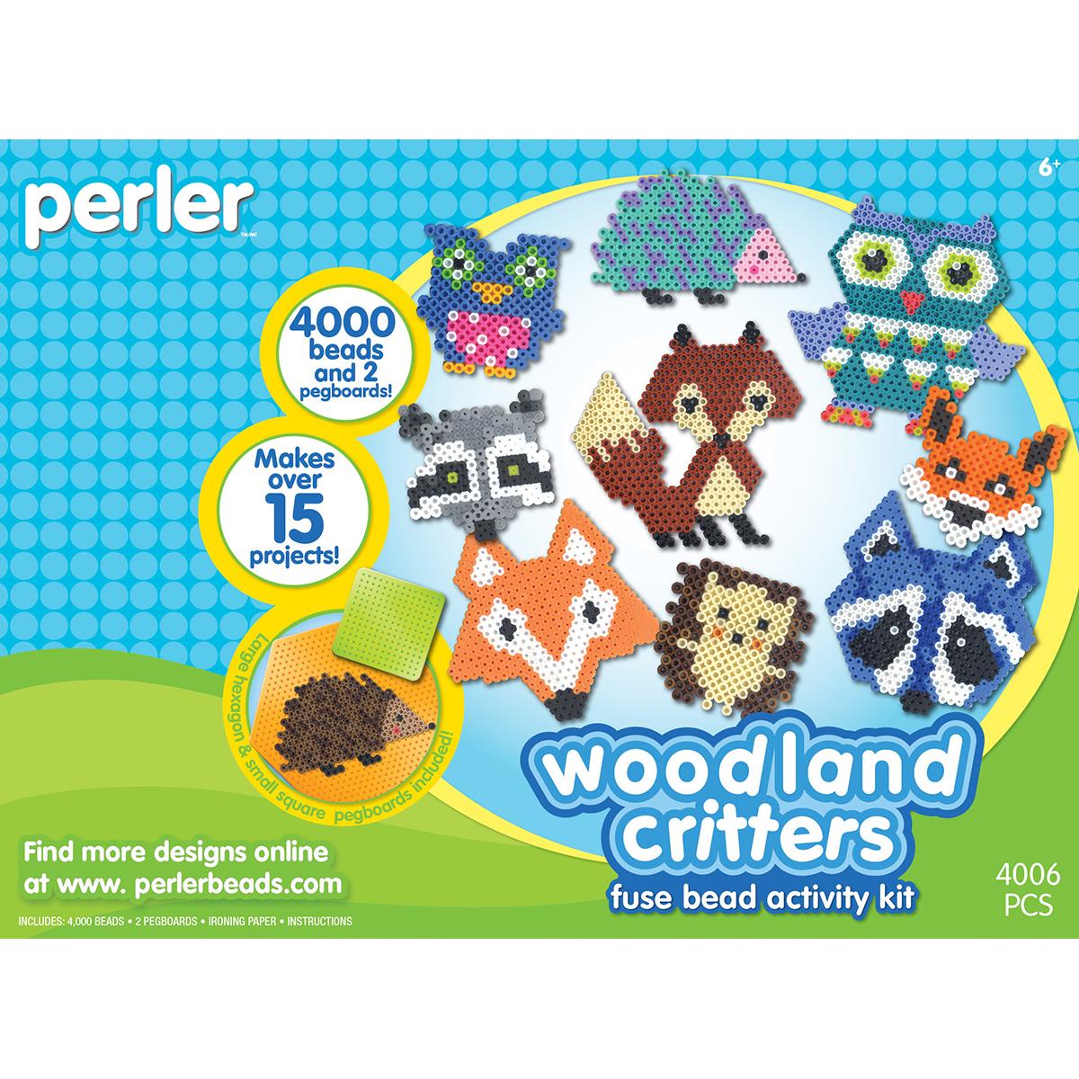 Perler Fused Bead Kit-Woodland Critters
