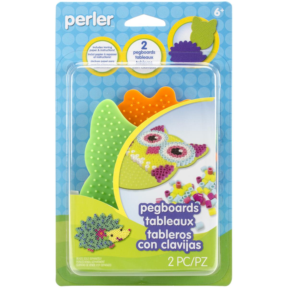 Perler Pegboards 2/Pkg-Owl/Hedgehog