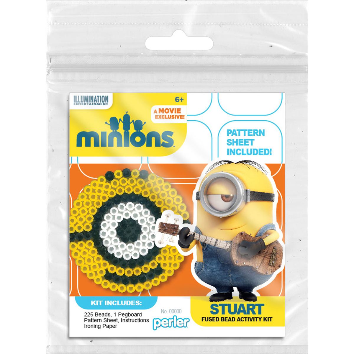 Perler Minions Fused Bead Kit-Stuart