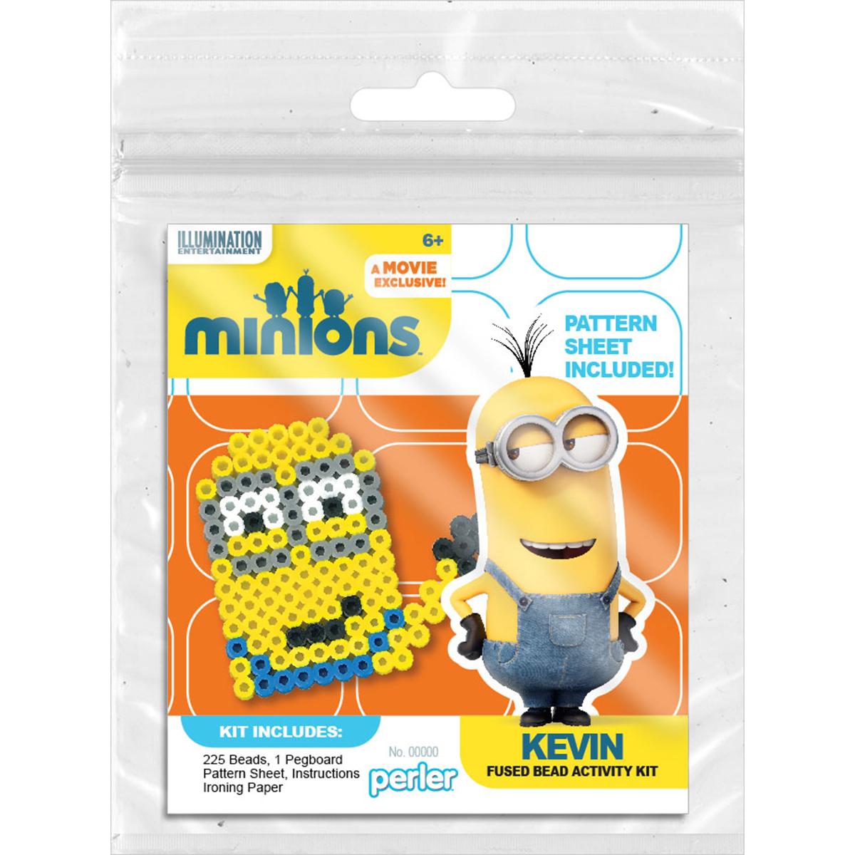Perler Minions Fused Bead Kit-Kevin