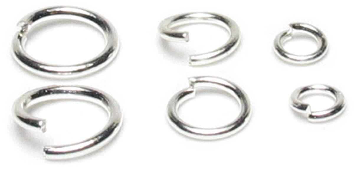 Jewelry Basics Metal Findings 120/Pkg-Silver Jump Rings 4mm, 6mm & 8mm