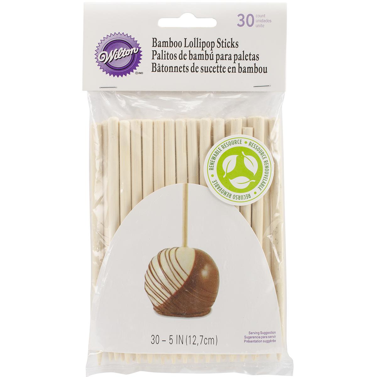 Bamboo Lollipop Stick 30 ct