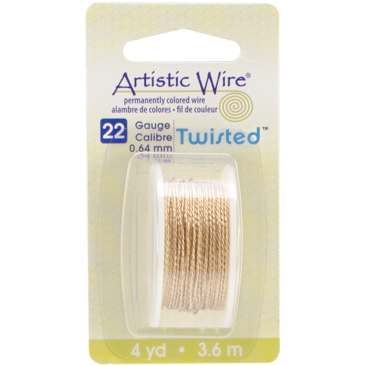 Artistic Wire Twisted-Non-Tarnish Brass - 22 Gauge, 4yd