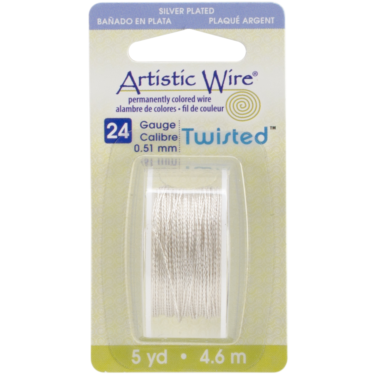 Artistic Wire Twisted-Non-Tarnish Silver - 24 Gauge, 5yd