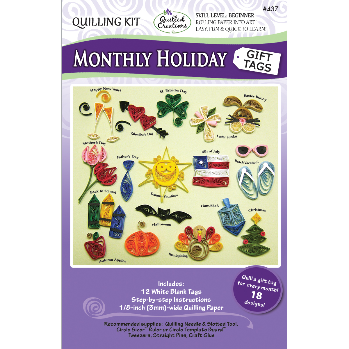 Monthly Holiday Quilling Kit