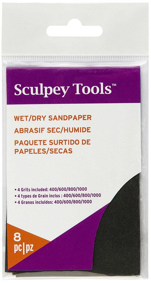 Sculpey Wet/Dry Sandpaper Variety Pack 8/Pkg-2.75X4.5