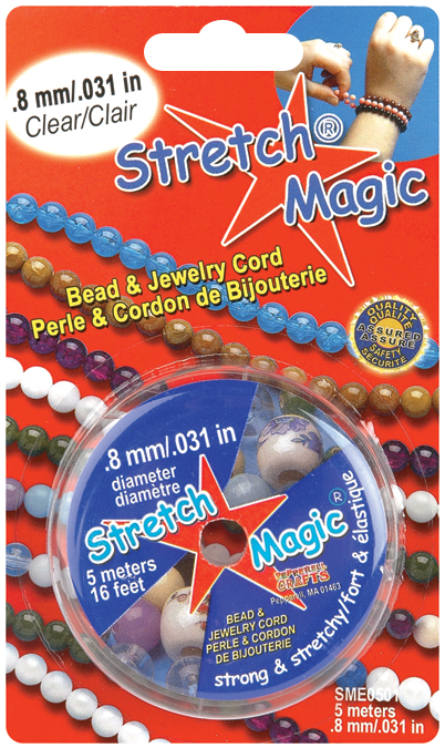 Stretch Magic Bead & Jewelry Cord .8mmX5m-Clear