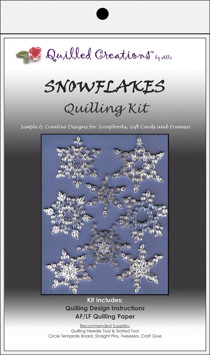 Snowflakes Quilling Kit