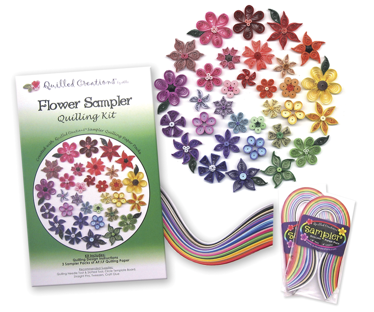 Quilling Kit Flower Sampler