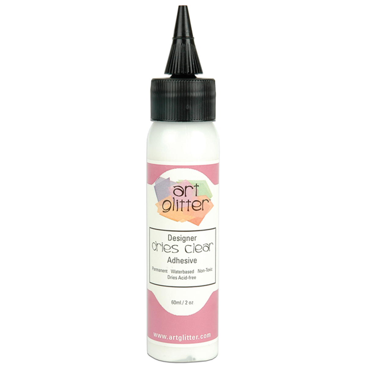 Art Institute Glitter Designer Dries CLEAR Adhesive 2oz-