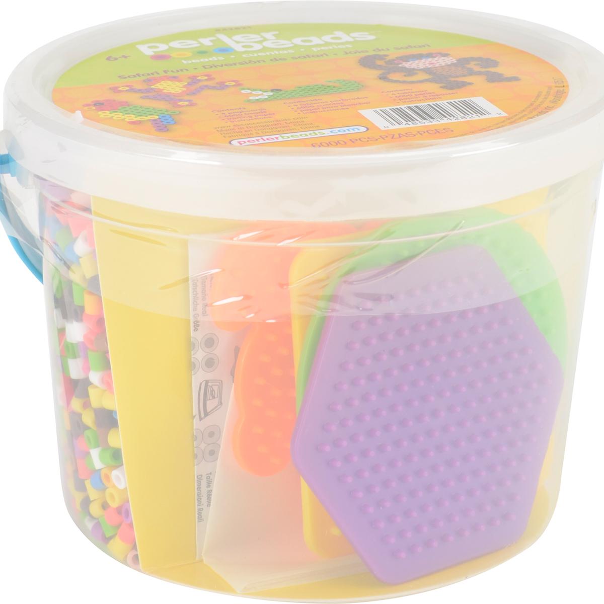 Perler Fused Bead Bucket Kit-Safari Fun