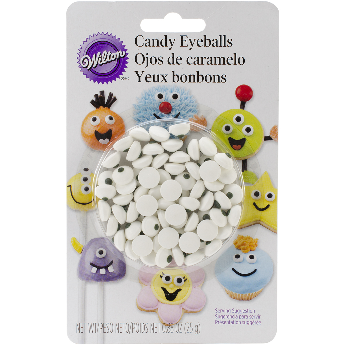 CANDY EYEBALLS WHITE