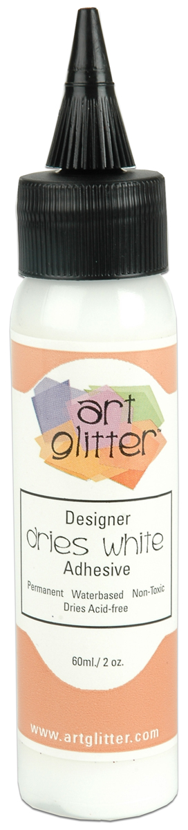 Art Institute Glitter Designer Dries White Adhesive 2oz-