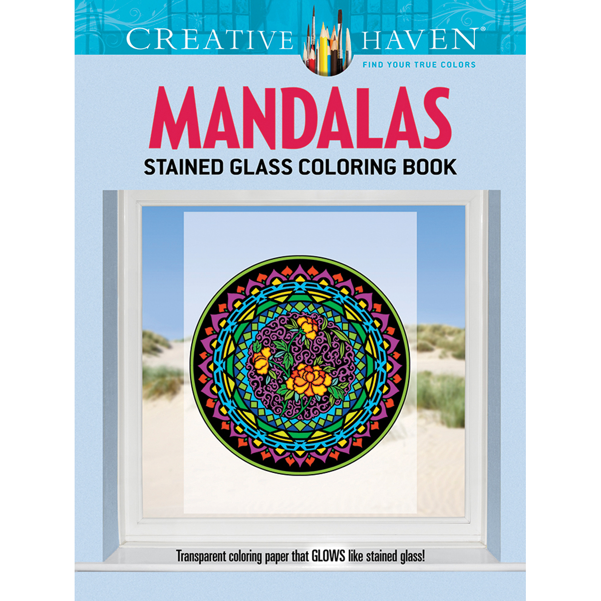 Mandalas Stained Glass Colouring Book