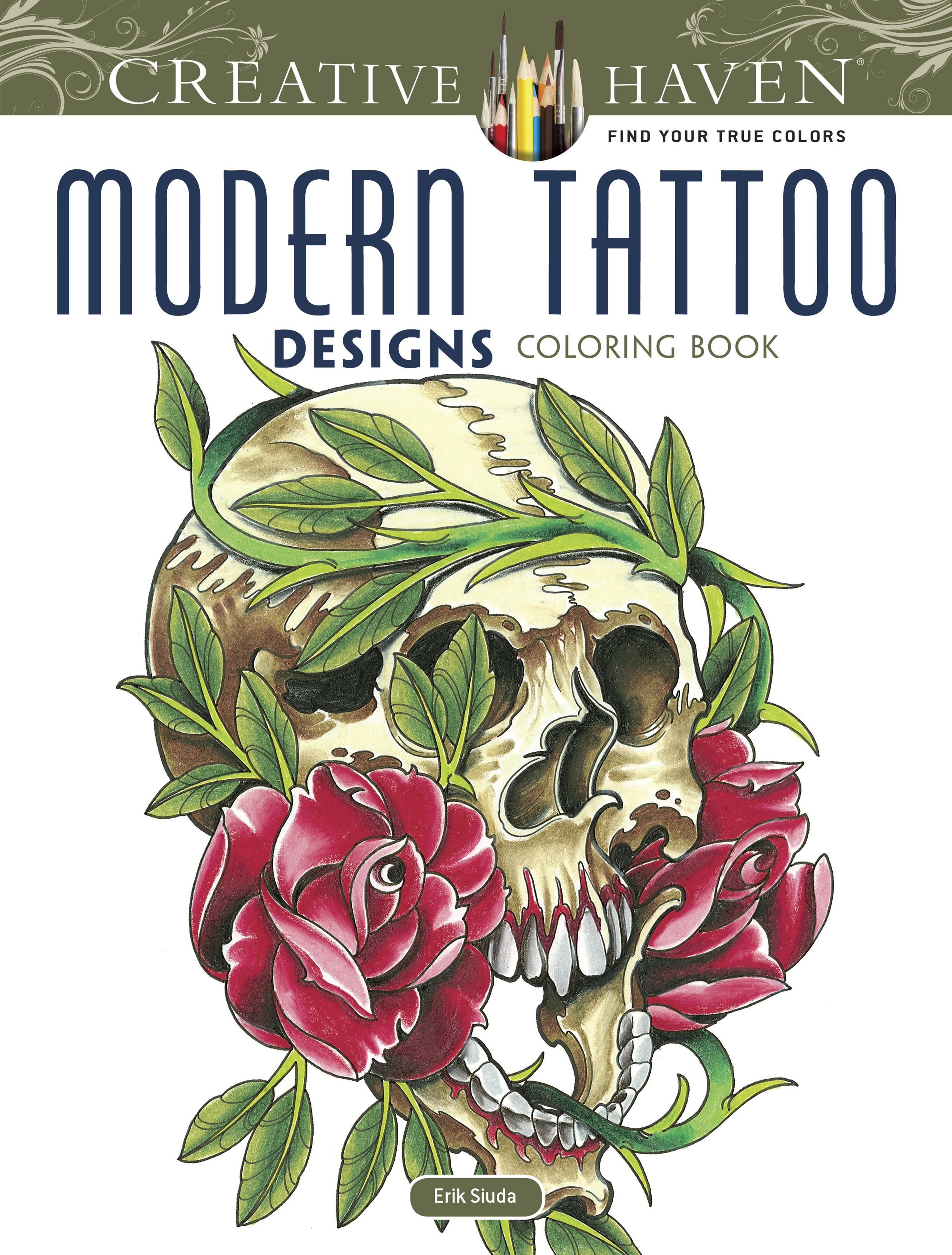 TATTOO DESIGN COLORING BOOK-DOVER BOOKS