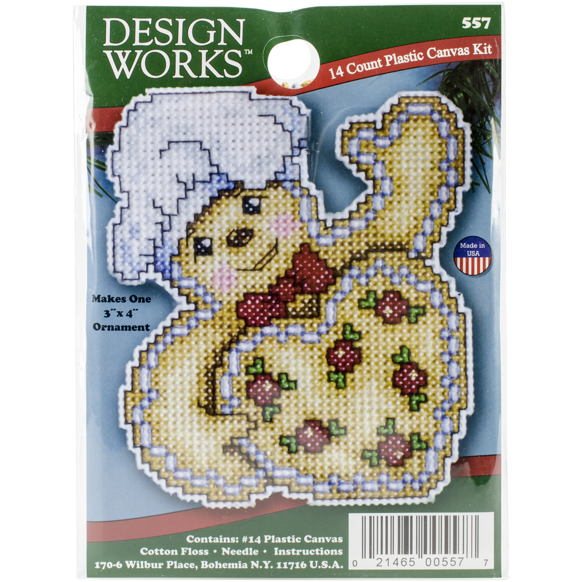 Gingerbread Plastic Canvas Ornament Kit