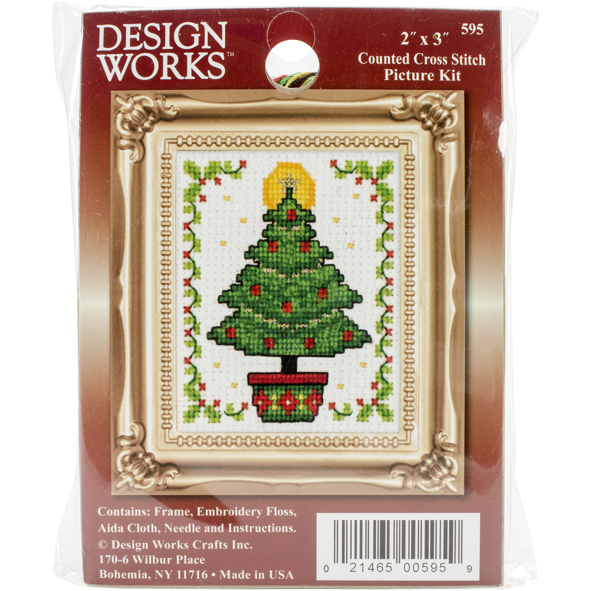 Design Works Counted Cross Stitch Kit 2X3-Christmas Tree (18 Count)