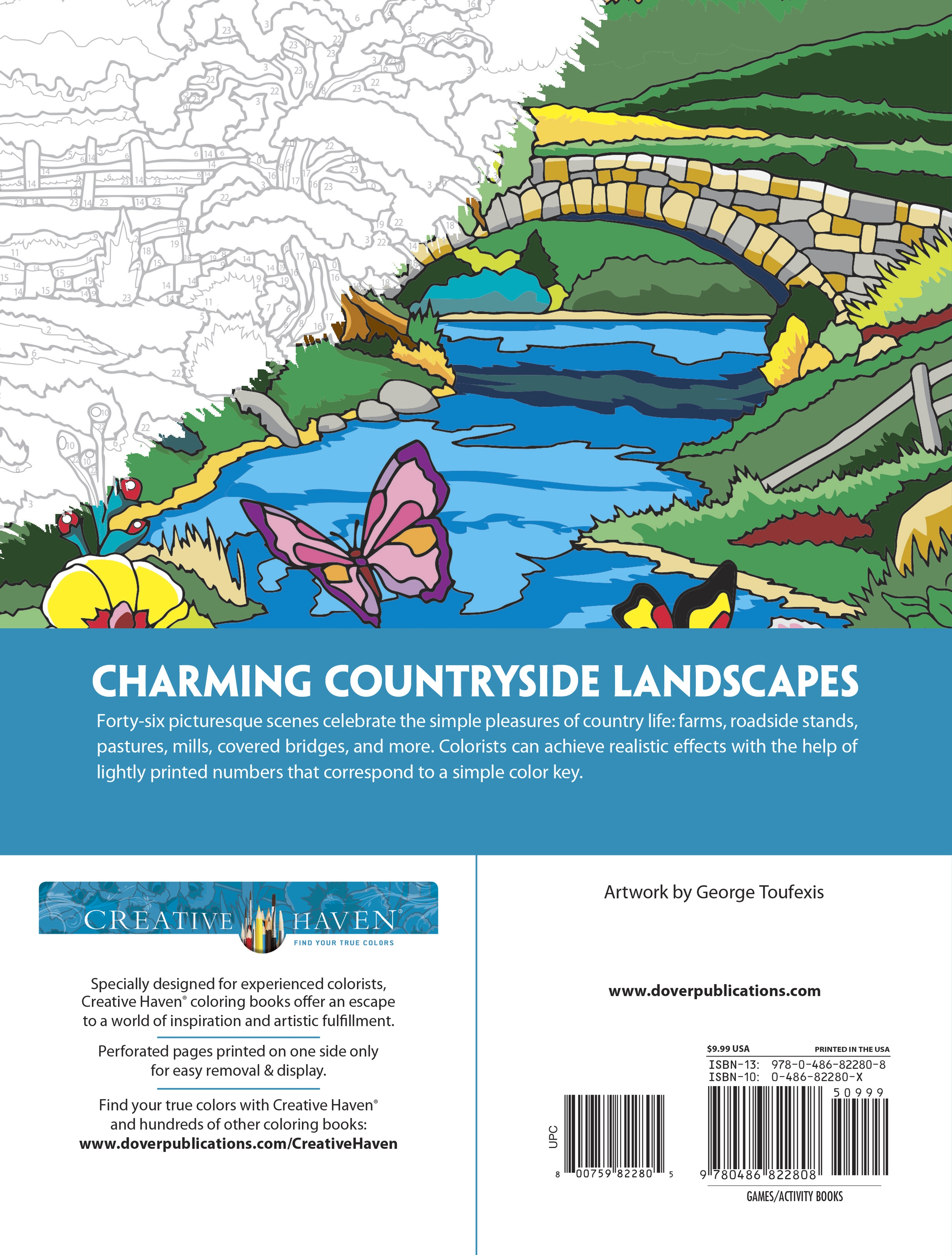 Dover Publications-Country Scenes Color By Number