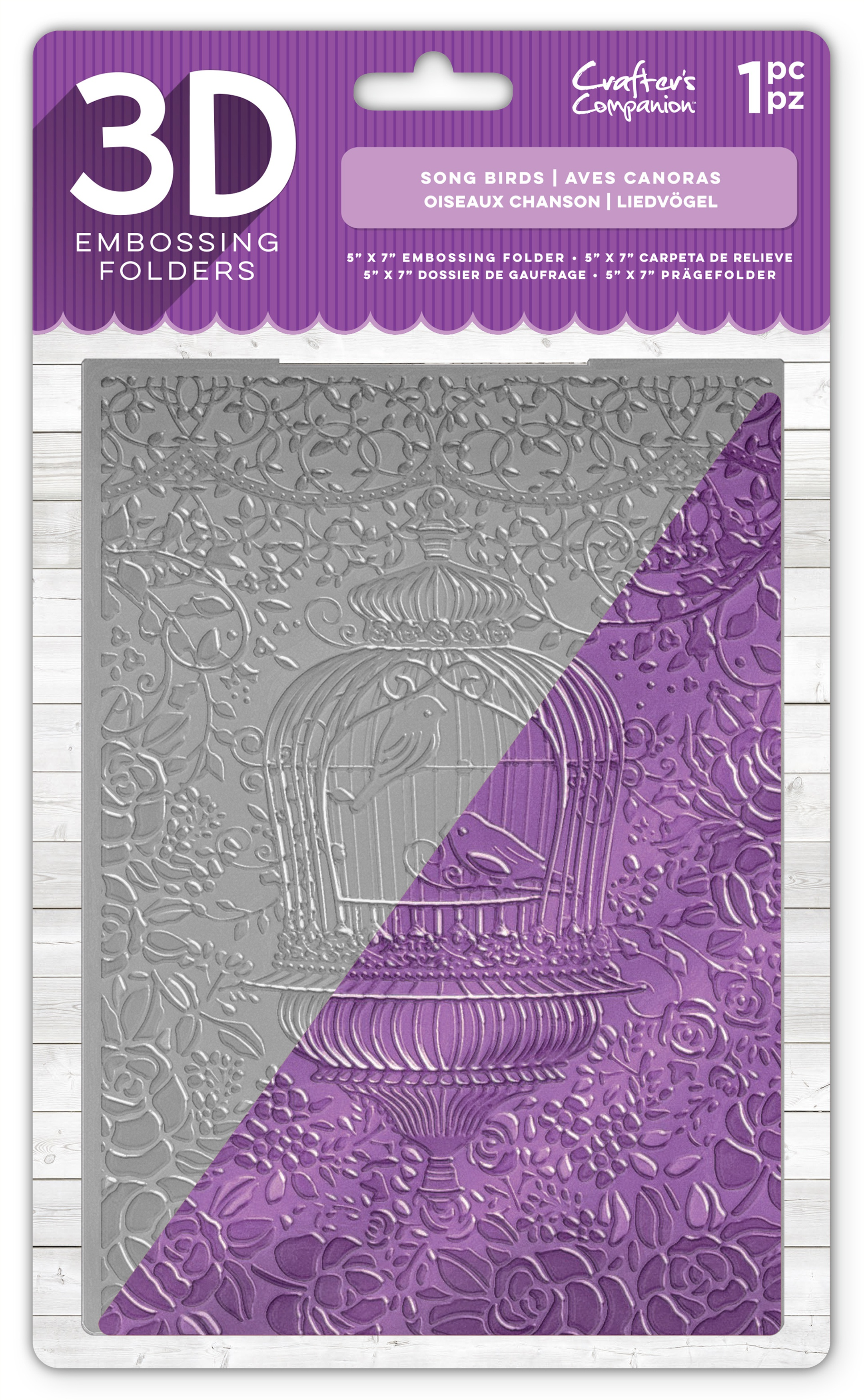 Crafter's Companion 3D Embossing Folder 5X7-Song Birds