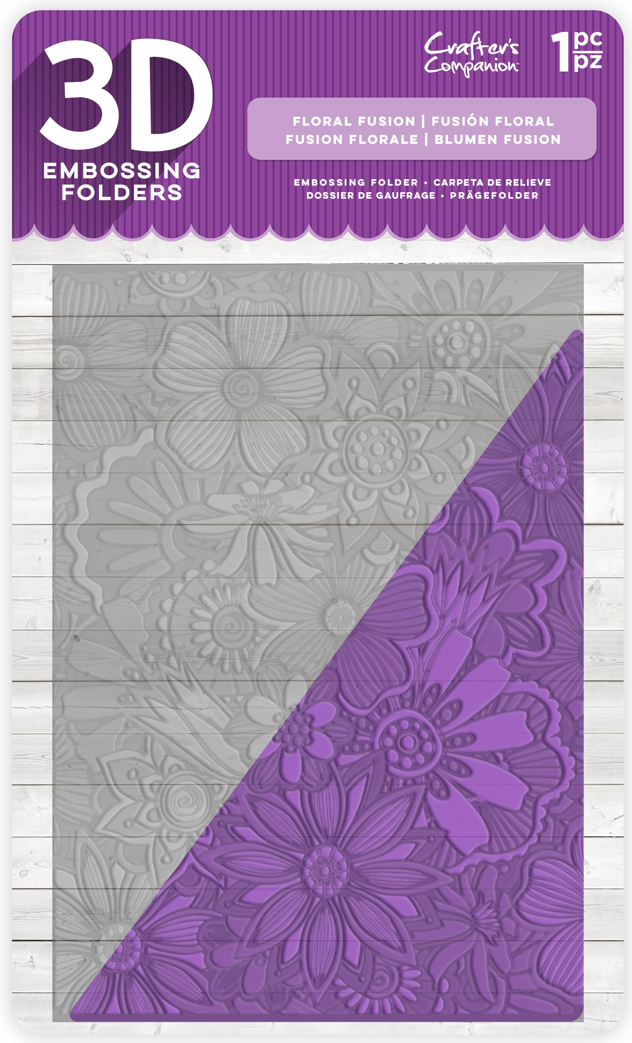 Floral Fusion 3D Embossing Folder