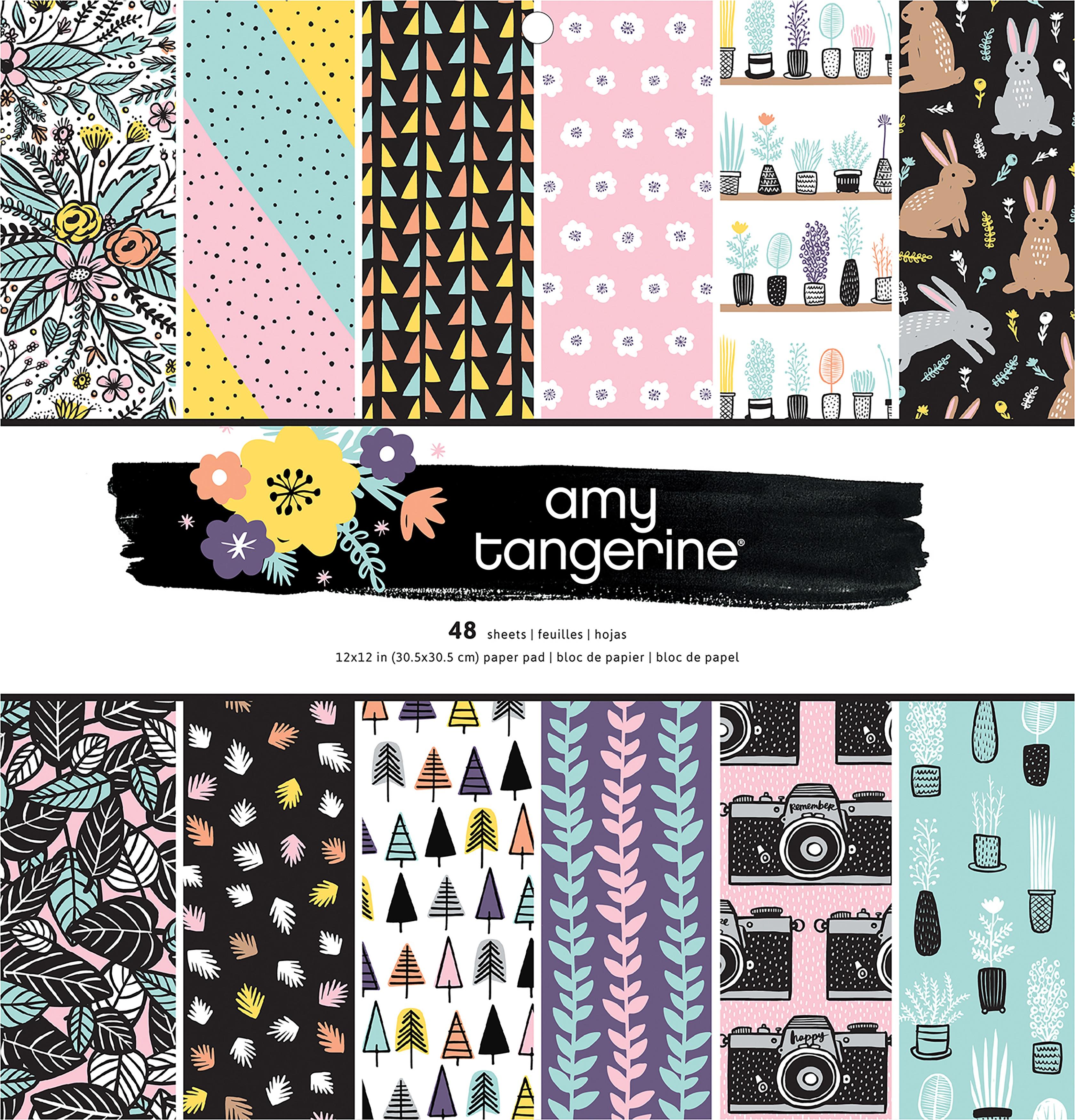 Pink Paislee 12X12 -SHINE ON PAPER PAD