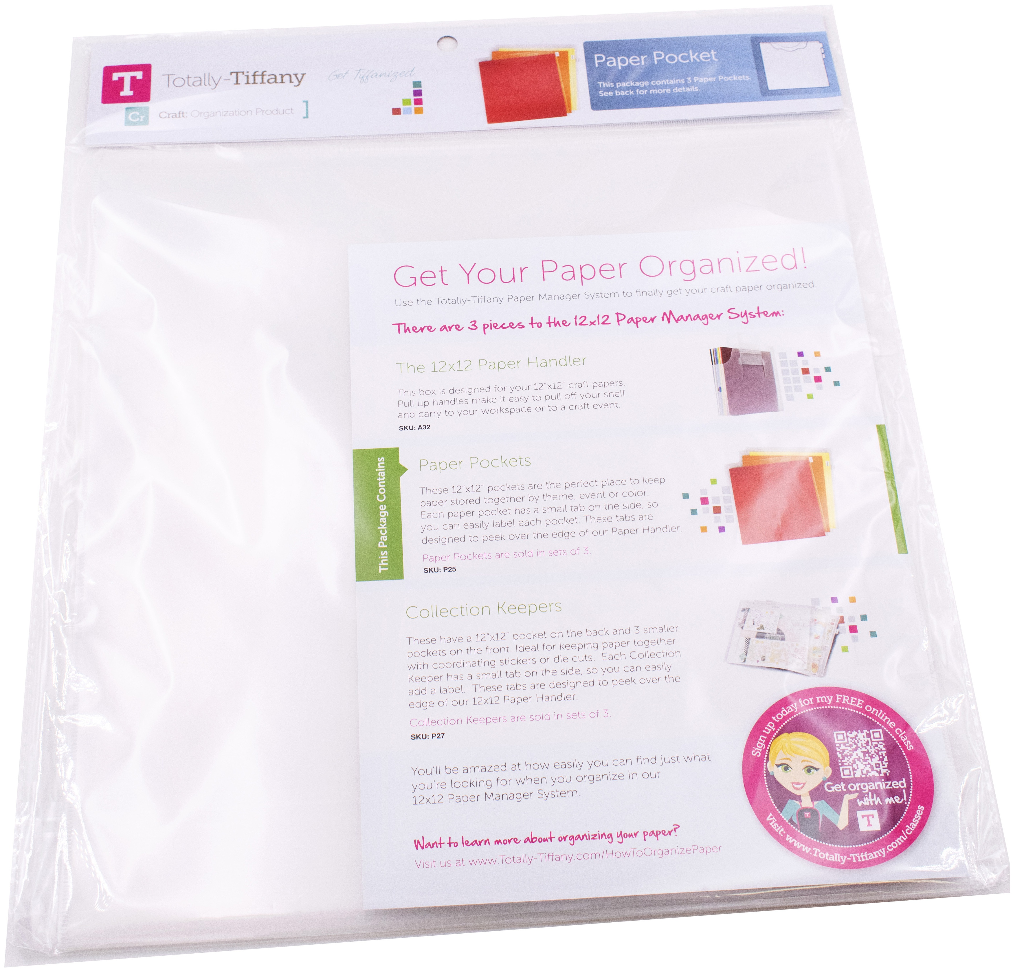 12x12 Paper Pocket 3/Pkg - Totally Tiffany