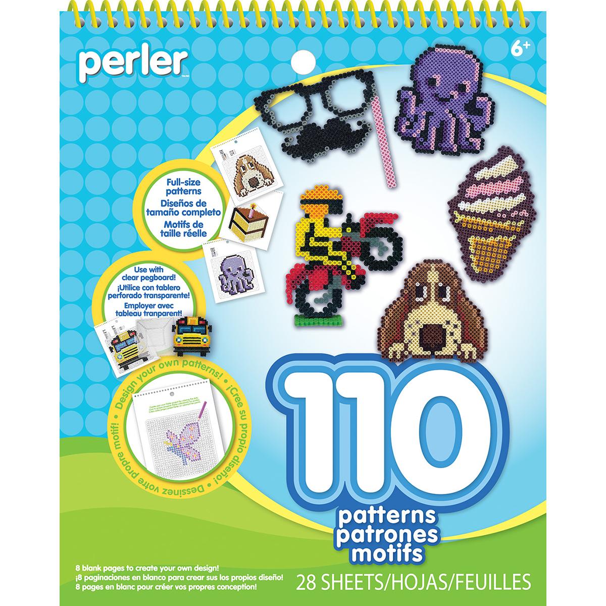 Perler Pattern Pad-Striped Beads