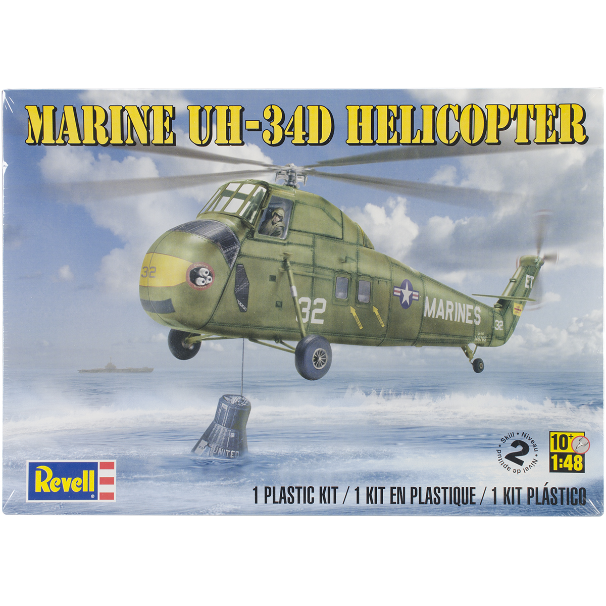 Plastic Model Kit-Marine UH-34 D Helicopter 1:48
