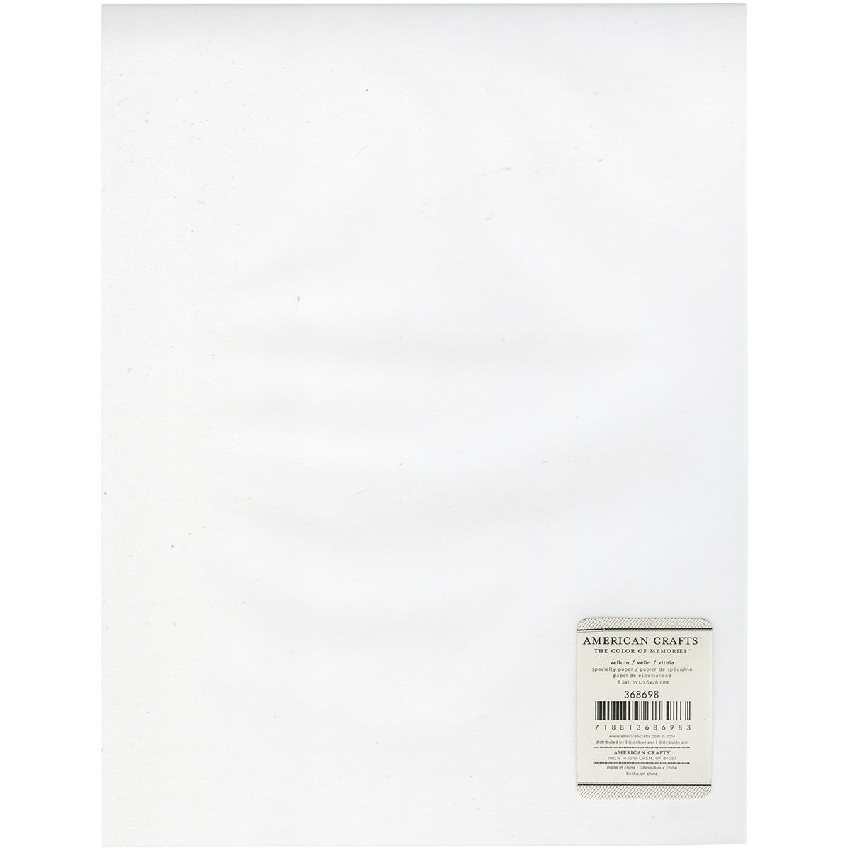 Inkjet Printable Vellum Sheet 8.5X11-27lb, Clear