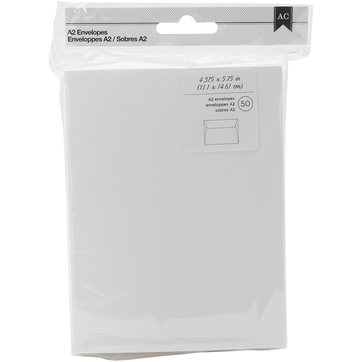 American Crafts A2 Envelopes (4.375X5.75) 50/Pkg-Ivory