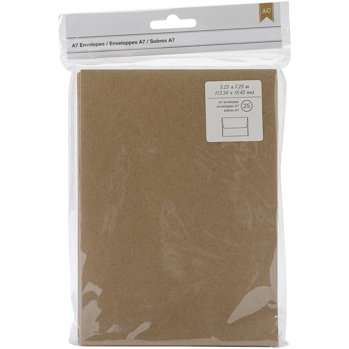 Envelopes Kraft A7 25 per pack
