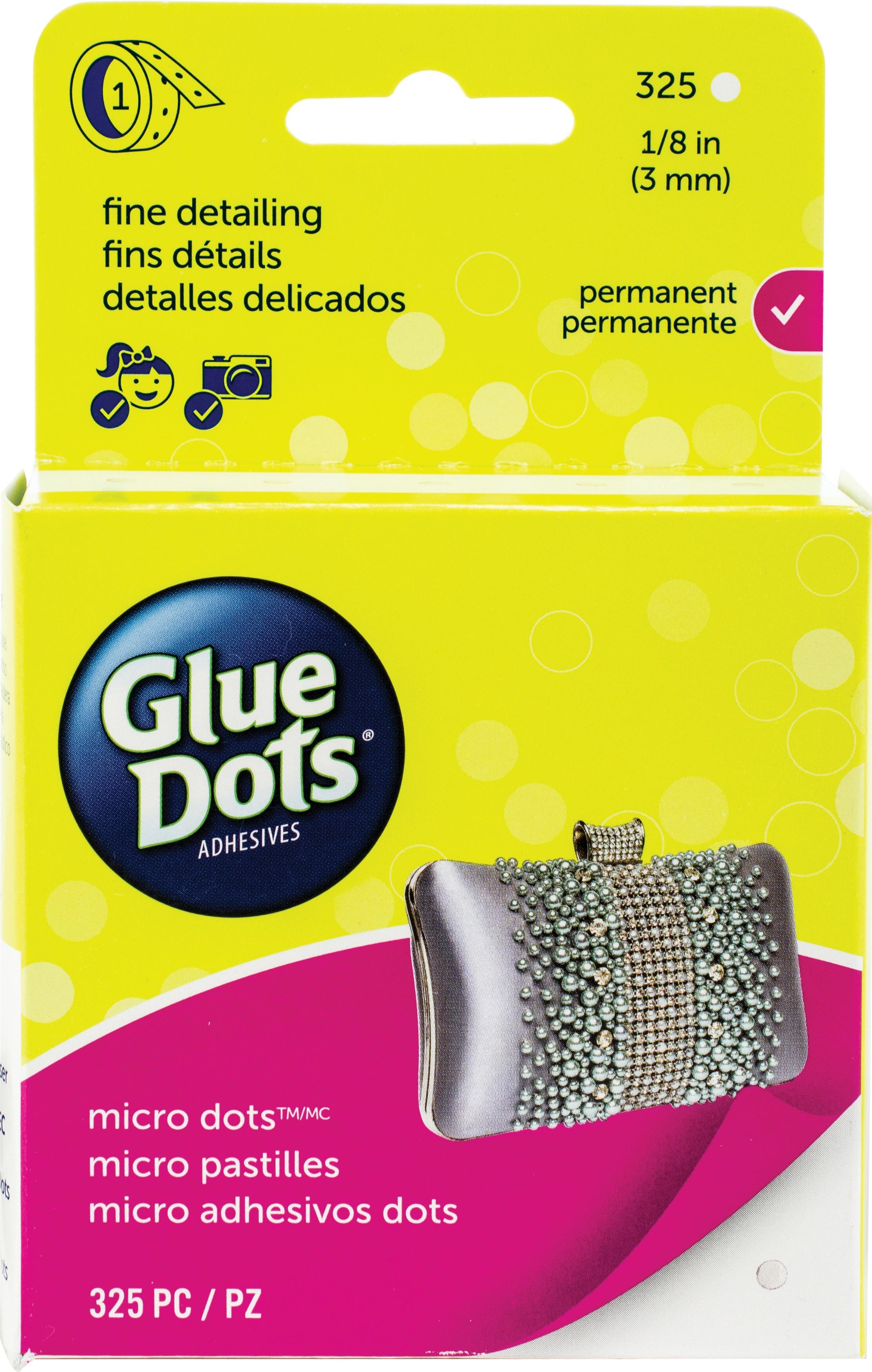 325/Clear -Glue Dots Micro