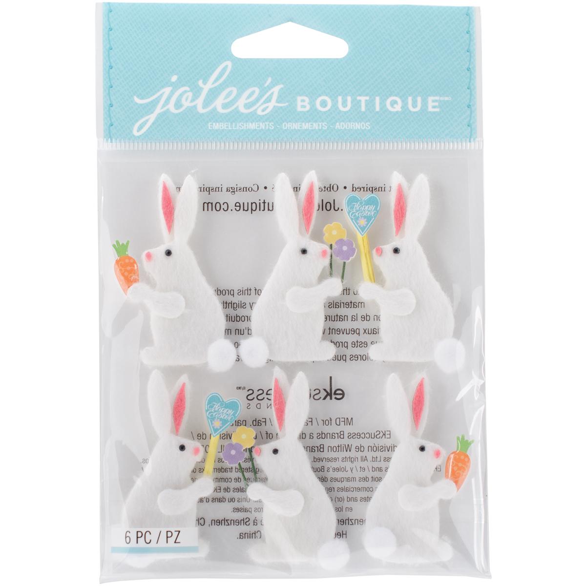 Sticker - Jb - Dimensional - Easter Bunnies (6 Piece)