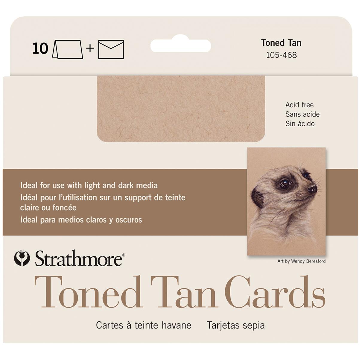 Strathmore Toned Tan Cards & Envelopes
