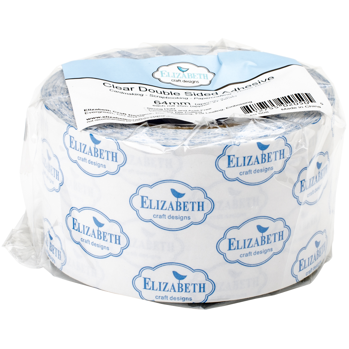 Elizabeth Craft Clear Double-Sided Adhesive Tape-2.5X27yd