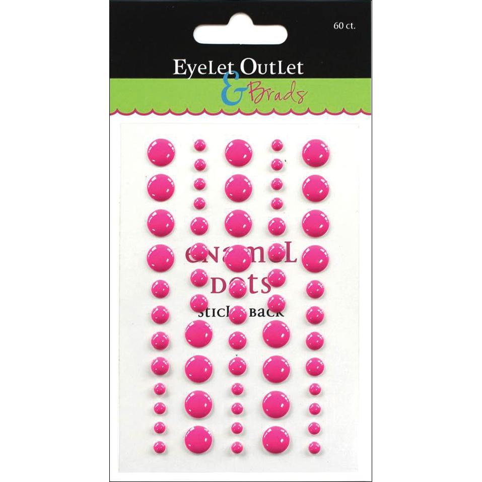 Enamel Dots Dark Pink 60/pack