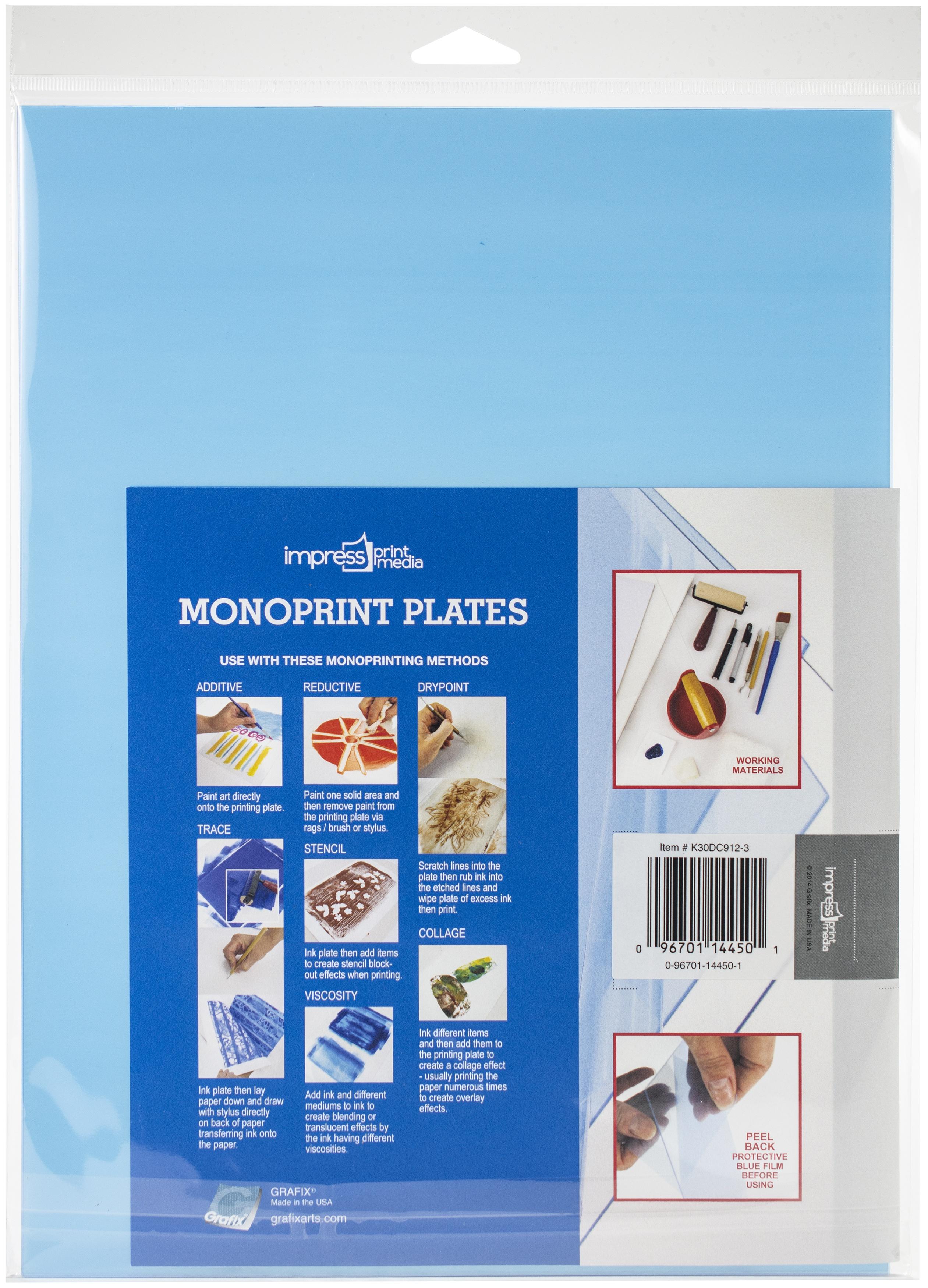 Impress Monoprint Plates 3/Pkg-9X12