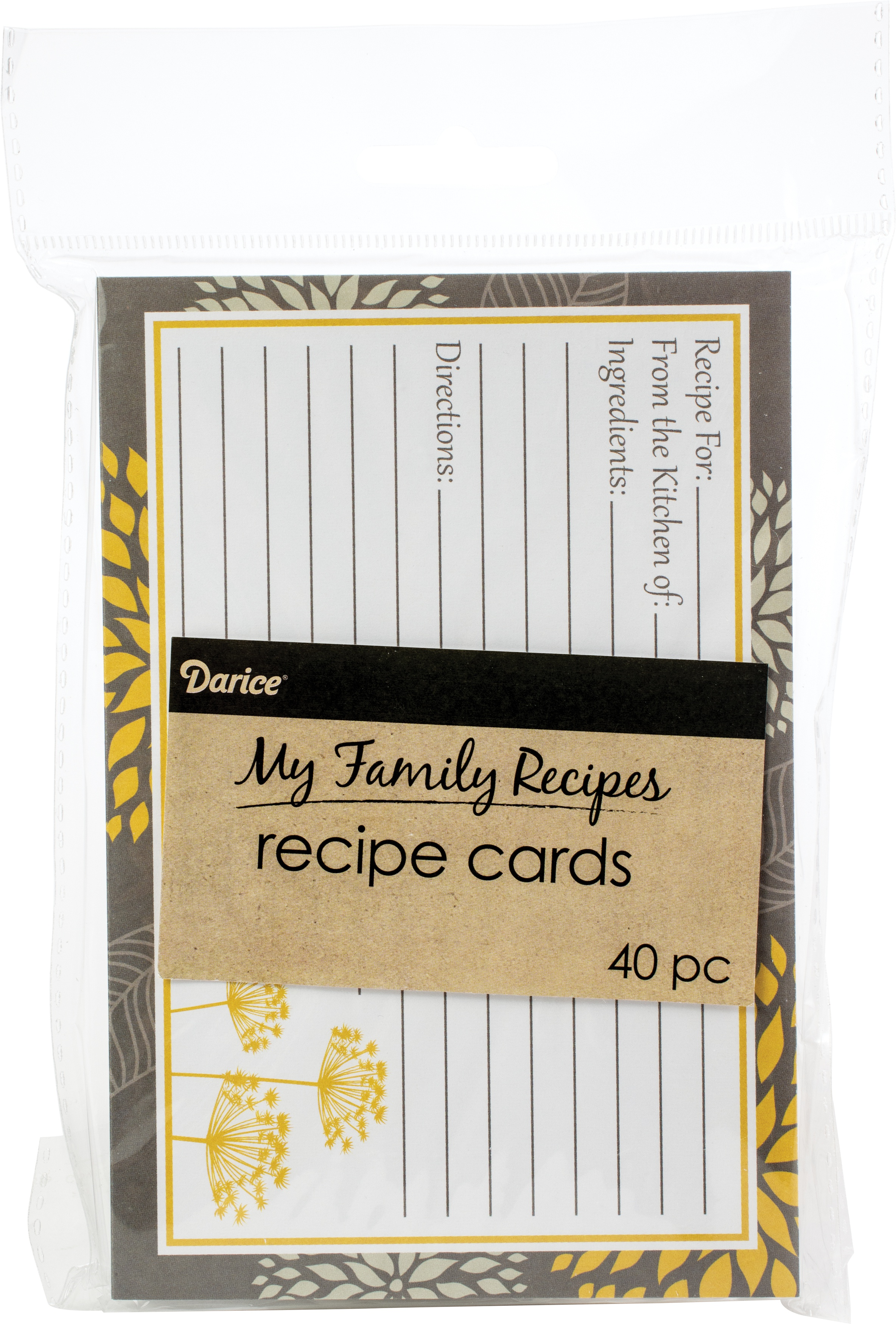 yellow and grey recipe cards
