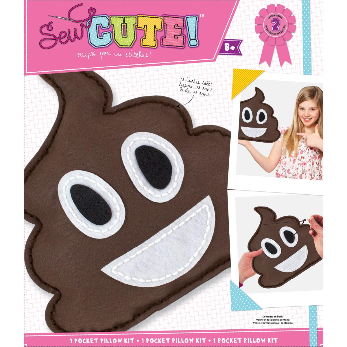 Emoji Pile Of Poo Pillow Sew Cute! Felt Kit-