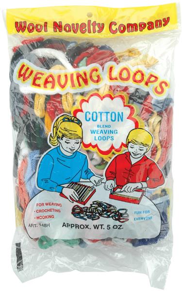 Wool Novelty Cotton Weaving Loops 5oz. Bag Pastel Multi Mix