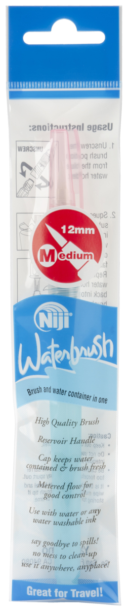 Niji Waterbrush Medium Point-12mm Tip