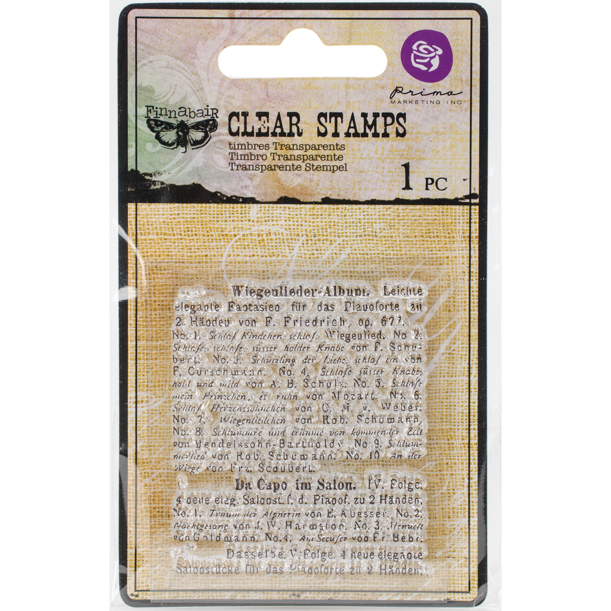 Finnabair Clear Stamp 2.2X2.5-Read To Me