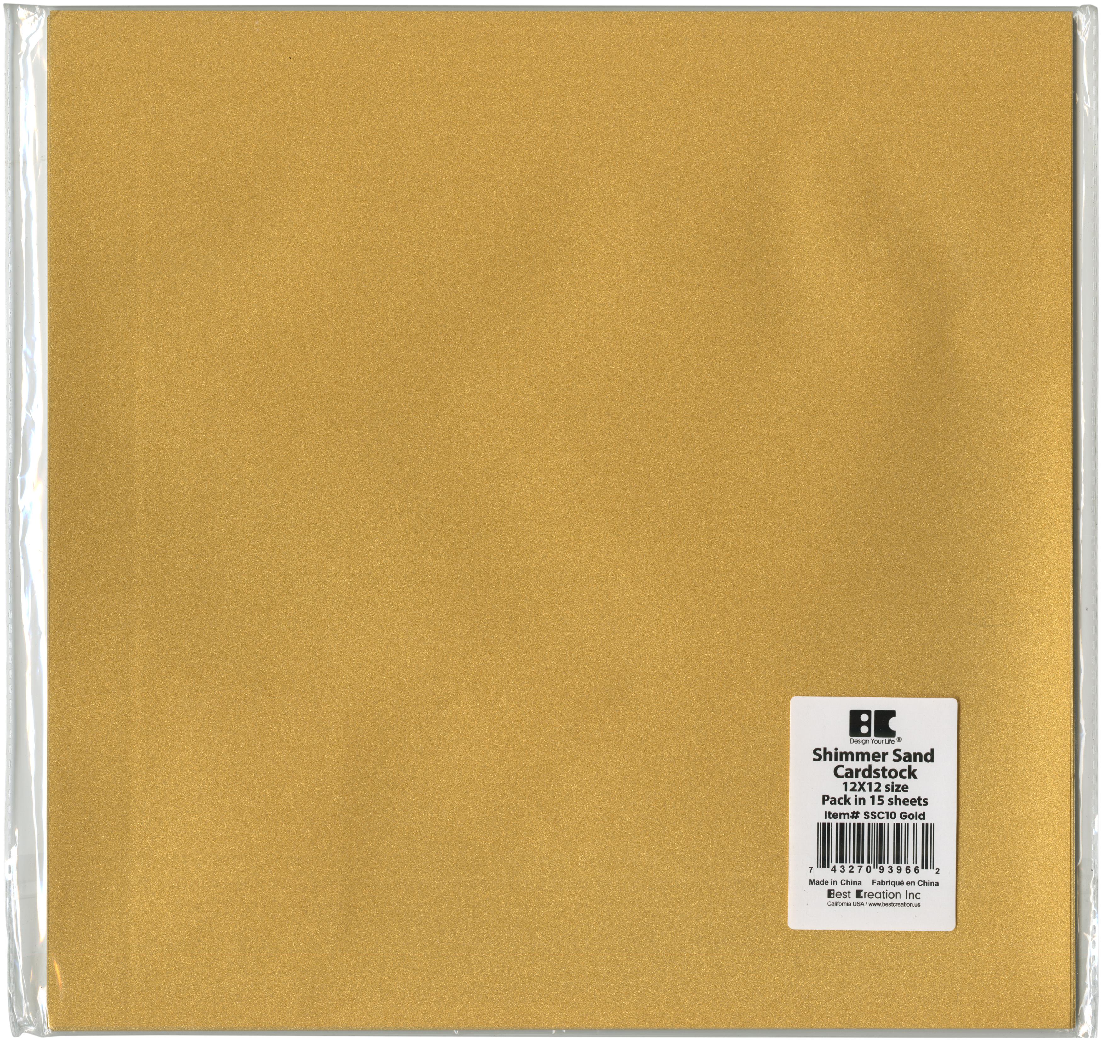 gold shimmer sand cardstock